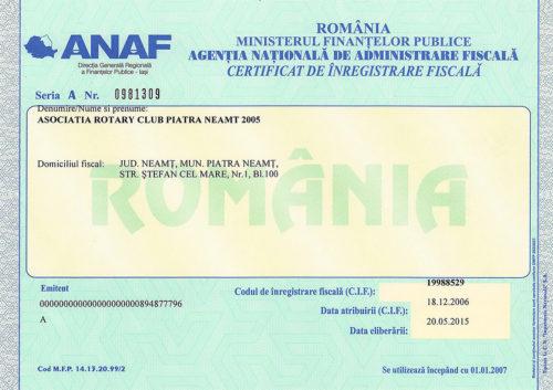 Certificat Fiscal